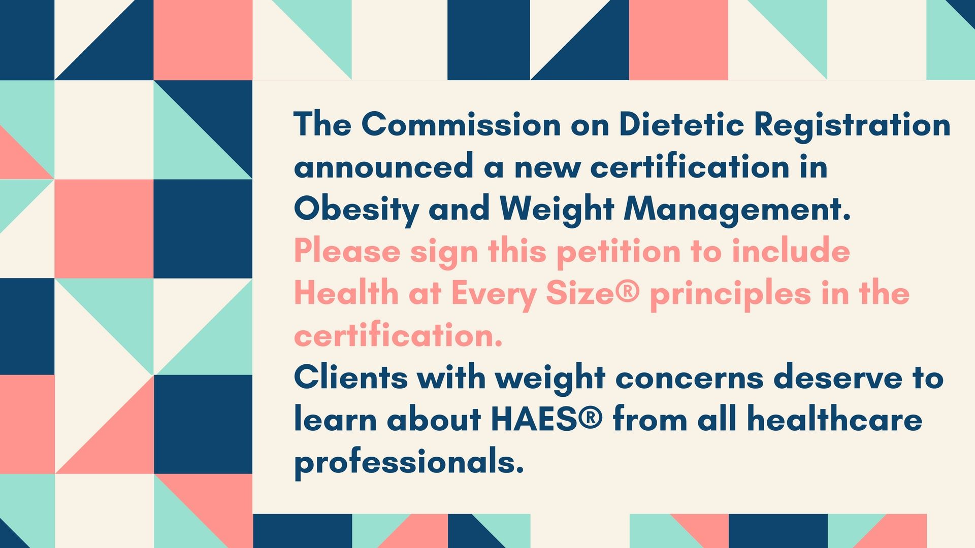 My Response To The Cdr About The New Weight Management