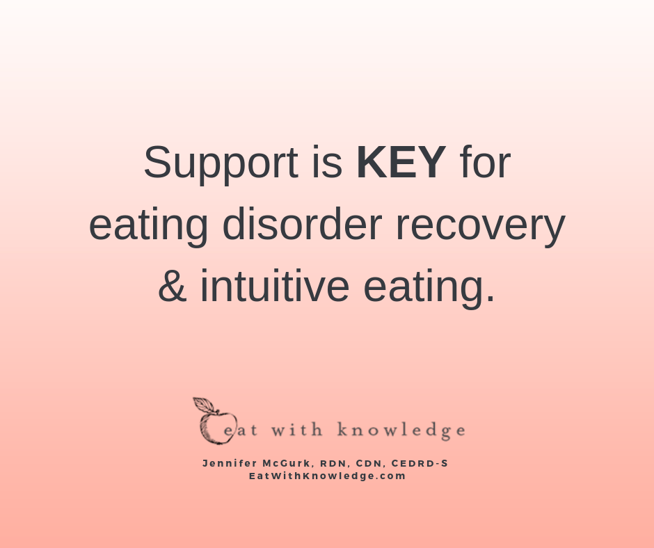 support system eating disorder recovery intuitive eating dietitian