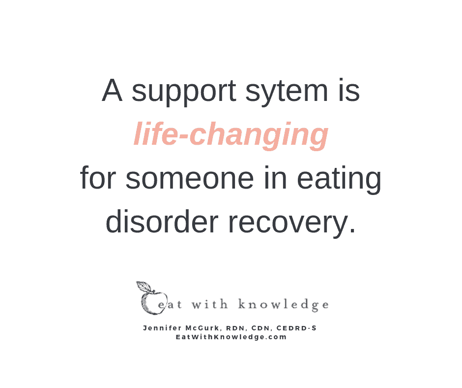 eating disorder recovery support system dietitian